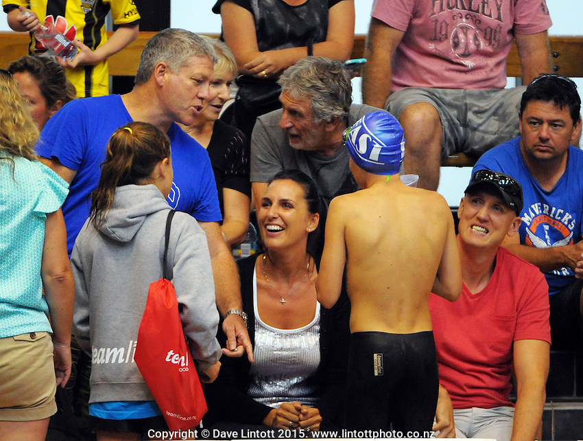 Session three of the 2015 State New Zealand Junior Swimming Championships at Welllington Regional Aquatics Centre, Kilbirnie, Wellington on Saturday, 21 February 2015. Photo: Dave Lintott / lintottphoto.co.nz