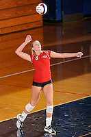 20 November 2008:  Arkansas State outside hitter Kristen Catalane (6) serves during the Middle Tennessee 3-0 victory over Arkansas State in the first round of the Sun Belt Conference Championship tournament at FIU Stadium in Miami, Florida.