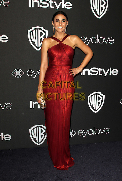8 January 2017 - Los Angeles, California - Emmanuelle Chriqui. InStyle &amp; Warner Bros. Pictures Golden Globes After Party 2017 held at the Beverly Hilton Hotel. <br /> CAP/ADM<br /> &copy;ADM/Capital Pictures