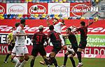Kaan Ayhan (F95) spielt in dieser Situation den Ball mit der Hand, so dass der Treffer von Rouwen Hennings (F95) nicht zählt<br /><br />20.06.2020, Fussball, 1. Bundesliga, Saison 2019 / 2020<br />33.Spieltag, Fortuna Duesseldorf : FC Augsburg<br /><br />Foto : NORBERT SCHMIDT/POOL/ via Meuter/nordphoto<br /><br />Nur für journalistische Zwecke ! Only for editorial use .