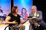 Australia'smost recognised Paralympian, Louise Sauvage is inducted in to the Paralympic Hall of Fame at the Induction Ceremony, held at the BT Auditorium, 2012 London Paralympic Games 2012