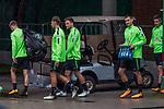08.09.2017, Weserstadion, Bremen, GER, 1.FBL, Training SV Werder Bremen<br /> <br /> im Bild<br /> <br /> Robert Bauer (Werder Bremen #4) Philipp Bargfrede (Werder Bremen #44) Maximilian Eggestein (Werder Bremen #35) Fin Bartels (Werder Bremen #22)<br /> <br /> Foto &copy; nordphoto / Ewert