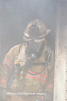 63818-02410 Firefighter at structure fire, Effingham Co., IL