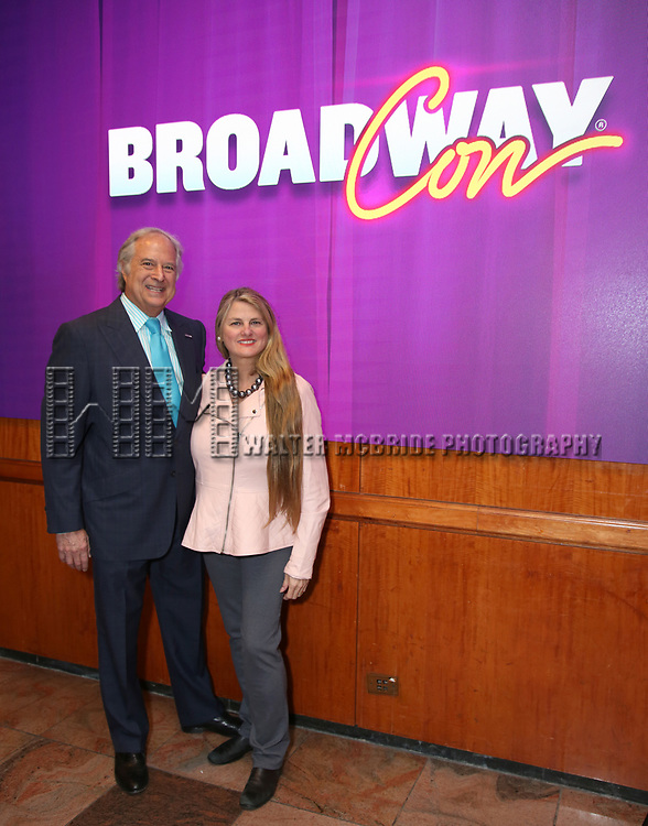 Stewart F. Lane and Bonnie Comley, BroadwayHD During the BroadwayCON 2020 First Look at the New York Hilton Midtown Hotel on January 24, 2020 in New York City.