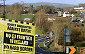 TO GO WITH BREXIT STORY BY LISA O'CARROLL: A weathered Border Communities Against Brexit billboard is seen close to the Letterkenny - Strabane border in the Irish Republic. Photo/Paul McErlane