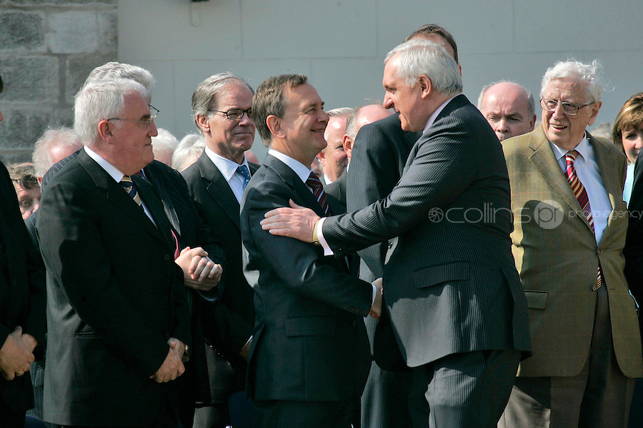 06/05/'08 Taoiseach Bertie Ahern with members of his Cabinet at the official opening of the Oldbridge Estate in Co. Meath, the site of the Battle of the Boyne, by the Taoiseach and Dr. Ian Paisley...Picture Collins, Dublin, Colin Keegan.