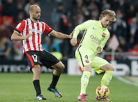 Atletic de Bilbao's Mikel Rico (l) and FC Barcelona's Ivan Rakitic during La Liga match.February 8,2015. (ALTERPHOTOS/Acero) /NORTEphoto.com