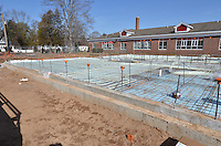 Hanover Elementary School - Kindergarten Addition.James R Anderson Photographer | photog.com 203-281-0717.Andrade Architects, LLC. Enfield Builders, Inc..Photography Date: 7 March 2012.Camera View: Northeast. Hydronic Radiant Floor Heat Tubing Installation..Image Number 10