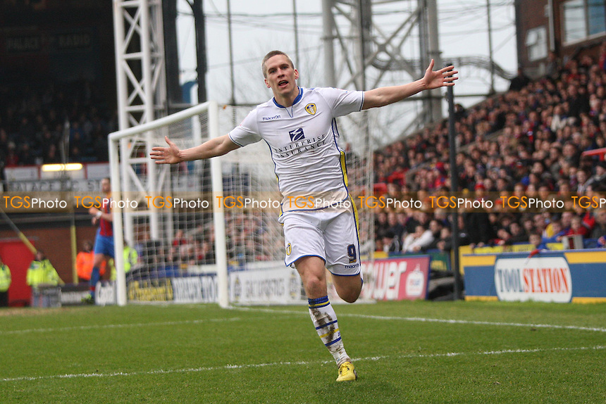 Steve Morison of Leeds United scores second goal and celebrates- Crystal Palace vs Leeds United - NPower Championship Football at Selhurst Park, London - 09/03/13 - MANDATORY CREDIT: George Phillipou/TGSPHOTO - Self billing applies where appropriate - 0845 094 6026 - contact@tgsphoto.co.uk - NO UNPAID USE.