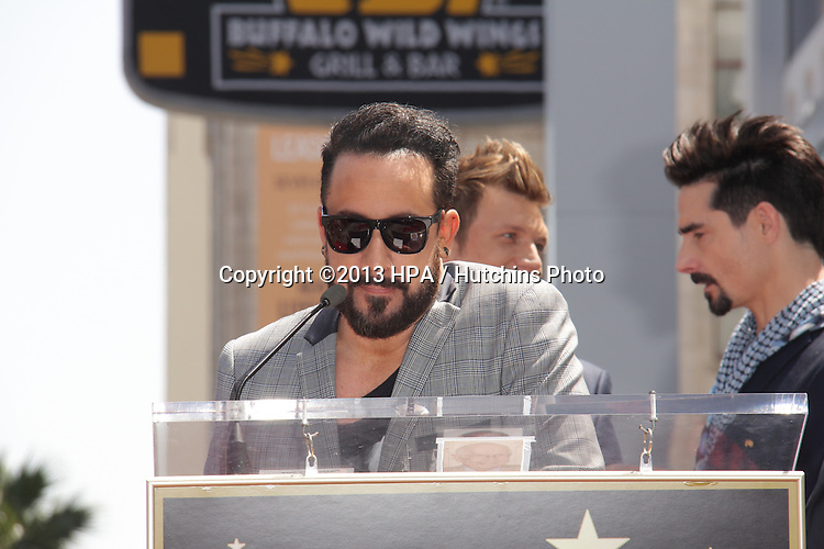 "LOS ANGELES - APR 22:  AJ McLean at the ceremony for the ""Backstreet Boys"" Star on the Walk of Fame at the Hollywood Walk of Fame on April 22, 2013 in Los Angeles, CA"