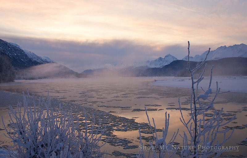 """Frosty Chilkat River"", Alaska"