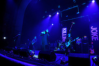 LONDON, ENGLAND - NOVEMBER 4: Geordie Walker, Jaz Coleman and Martin 'Youth' Glover of 'Killing Joke' performing at Brixton Academy on November 4, 2016 in London, England.<br /> CAP/MAR<br /> &copy;MAR/Capital Pictures /MediaPunch ***NORTH AND SOUTH AMERICAS ONLY***