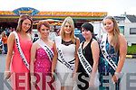CROWNED: Nicole Flynn (Centre) was selected the 2012 Castlegregory Summer Festival Queen, also pictured were l-r: Clíodhna Shanahan ,Sarah Scanlon,Tara Goodwin and Amy O'Donnell..