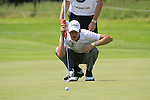 Simon Thornton lines up his putt on the 7th green during Day 3 of The BMW International Open Munich at Eichenried Golf Club, 26th June 2010 (Photo by Eoin Clarke/GOLFFILE).