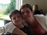 Pictured: Police handout of Elen Jones (R) and son Lewis Rhys<br /> Re: A mother and her eight-year-old son have gone missing from their Anglesey home.<br /> Family of Elen Jones, 36, and Lewis Rhys, who live in Menai Bridge, have not seen them since Tuesday 17 January.<br /> North Wales Police believe they are travelling in a gold coloured Citroen Xzara with the registration YS52VTV.<br /> They have put out an alert on Facebook. Officers are appealing for sightings of the pair.