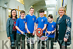CBS the Green badminton team, Winners of the U14's boys Kerry division and the Munsters school competition which was held in UL, Limerick and are now heading to the All Ireland which will be held on Wednesday 9th of March at Gormanstown College, Co Meath.Pictured l-r  Aine Knightly, Kevin Griffin, Seamus Bradley, Sean Kennedy, David Smith and Ann O'Callaghan, Principal
