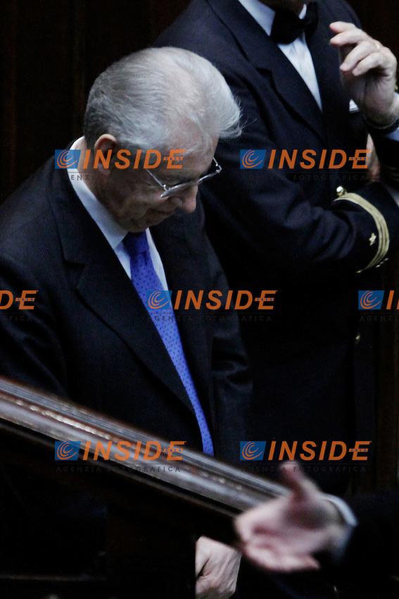 Il Presidente del Consiglio Mario Monti.Roma 21/03/2012 Camera dei Deputati, Voto di fiducia sul decreto legge in materia di liberalizzazioni.Foto Serena Cremaschi Insidefoto