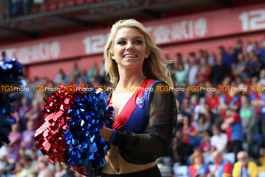 One of the Crystal PAlace cheerleaders - the Crystals - Crystal Palace vs Tottenham Hotspur at the Selhurst Park Stadium - 18/08/13 - MANDATORY CREDIT: Dave Simpson/TGSPHOTO - Self billing applies where appropriate - 0845 094 6026 - contact@tgsphoto.co.uk - NO UNPAID USE