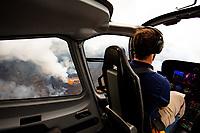 PAHOA, HI - June 2, 2018:  A Helicopter Pilot over Hawaii's Kilauea Volcano in Pahoa, HI on June 2, 2018. <br /> CAP/MPI/EKP<br /> &copy;EKP/MPI/Capital Pictures