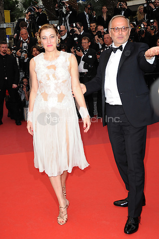 Valeria Bruni Tedeschi and Fabrice Luchini at the &acute;Ma Loute` screening during The 69th Annual Cannes Film Festival on May 13, 2016 in Cannes, France.<br /> CAP/LAF<br /> &copy;Lafitte/Capital Pictures /MediaPunch ***NORTH AND SOUTH AMERICA ONLY***