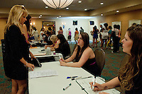 Almost a thousand 'wanna be' extras attend a casting call for the new ABC series, 'Charlie's Angels' with Casting Director Bill Marinella at the Sheraton Ft. Lauderdale Airport & Cruise Port Hotel, Dania, Florida, USA, July 17, 2011, Photos by Debi Pittman Wilkey