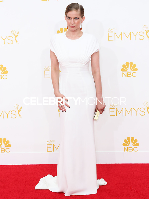 LOS ANGELES, CA, USA - AUGUST 25: Actress Anna Chlumsky arrives at the 66th Annual Primetime Emmy Awards held at Nokia Theatre L.A. Live on August 25, 2014 in Los Angeles, California, United States. (Photo by Celebrity Monitor)