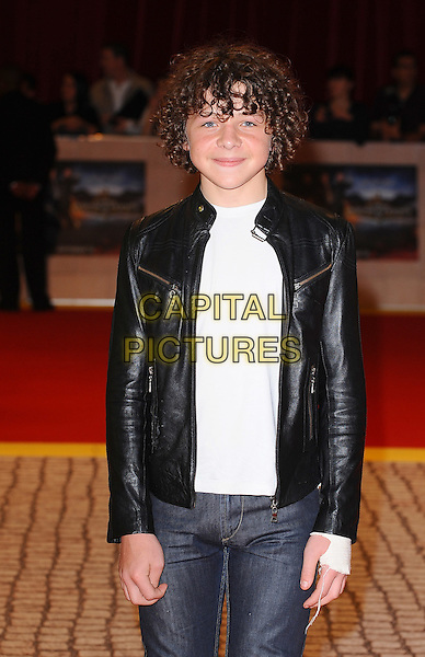 Daniel Roche .'The Three Musketeers in 3D' world film premiere, Vue Cinema, Westfield Shopping Centre, London, England..October 4th 2011.half length black leather jacket white top.CAP/BEL.©Tom Belcher/Capital Pictures.