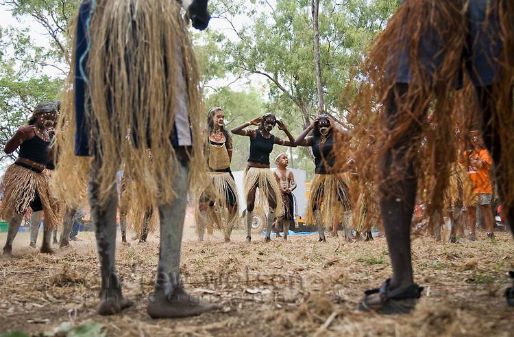 Indigenous dancers at the Laura Aboriginal Dance Festival.  Laura, Queensland, Australia