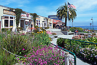 "Shops and Restaurants at Steinbeck Plaza along ""Cannery Row"", in the City of Monterey, California, USA"