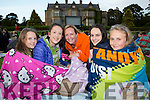 Lillie Foley, Emma Goulding, Karen, Grace and Jean Foley keeping warm at the Kerry Film Festival Open air movie in Muckross house gardens on Friday night