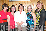 50TH BIRTHDAY: Sandra Curtin from Knockmoyle celebrating her 50Th birthday with friends at La Scala restaurant on Saturday night l:r Noelle McCoy, Mary Dineen, Sandra Curtin, Bernadette O'Connor and Kathleen Wrenn..   Copyright Kerry's Eye 2008