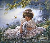 CHILDREN, KINDER, NIÑOS, paintings+++++,USLGSK0072,#K#, EVERYDAY ,Sandra Kock, victorian