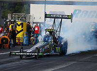 Jun 9, 2017; Englishtown , NJ, USA; NHRA top fuel driver Brittany Force during qualifying for the Summernationals at Old Bridge Township Raceway Park. Mandatory Credit: Mark J. Rebilas-USA TODAY Sports