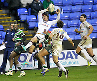 READING, ENGLAND :  Rafael Carballo of Bordeaux-Begles takes a  high ball during the Amlin Challenge Cup match between London Irish and Bordeaux-Begles at Madejski Stadium on January 18, 2013 in Reading, England.