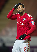 Leon Best of Charlton Athletic during the Sky Bet League 1 match between Charlton Athletic and Peterborough at The Valley, London, England on 28 November 2017. Photo by Vince  Mignott / PRiME Media Images.