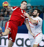 Hungary v Spain.23rd Men's Handball World Championship. Preliminary round match.
