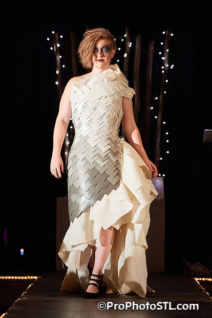 UnRavel Raw Simplicity fashion show presented by the Gateway Chapter of International Interior Design Association (IIDA) at William D. Purser, DC Center at Logan University in Chesterfield, Missouri on Oct 28, 2016.