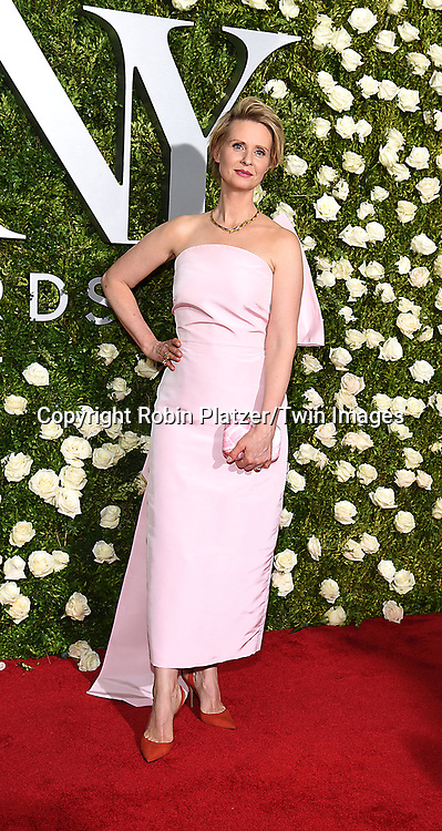 Cynthia Nixon attends the 71st Annual  Tony Awards on June 11, 2017 at Radio City Music Hall in New York, New York, USA.<br /> <br /> photo by Robin Platzer/Twin Images<br />  <br /> phone number 212-935-0770