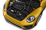 Car Stock 2017 Volkswagen Beetle Dune 3 Door Hatchback Engine  high angle detail view