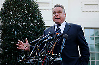 United States Representative Chris Smith (Republican of New Jersey) addresses reporters outside the West Wing following a signing ceremony for Anti-Human Trafficking Legislation in the Oval Office of the White House, in Washington, D.C., January 9, 2019.<br /> CAP/MPI/RS<br /> ©RS/MPI/Capital Pictures
