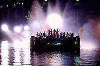 """Urban Sax"", the European Progressive Rock Group from France, performing on a Floating Barge at Night"