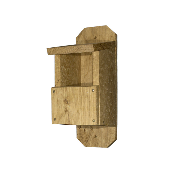 Typical open fronted bird nestbox