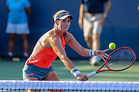 Washington, DC - August 3, 2019:  Maria Sanchez (USA) returns the volley during the  Women Doubles finals at William H.G. FitzGerald Tennis Center in Washington, DC  August 3, 2019.  (Photo by Elliott Brown/Media Images International)