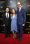 John Tiffany, J.K. Rowling and Jack Thorne attends the Broadway Opening Day performance of 'Harry Potter and the Cursed Child Parts One and Two' at The Lyric Theatre on April 22, 2018 in New York City.