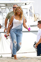 Beyonce, Jay Z , and their daughter Blue Ivy  are leaving the French Riviera - France