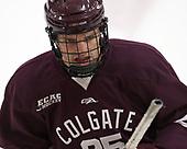 Evan Tschumi (Colgate - 25) - The visiting Colgate University Raiders shut out the Harvard University Crimson for a 2-0 win on Saturday, January 27, 2018, at Bright-Landry Hockey Center in Boston, Massachusetts.