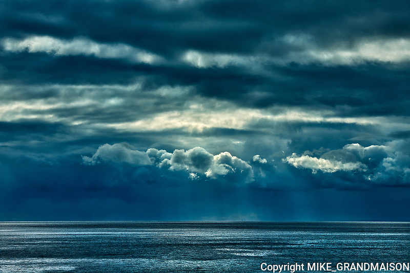 Storm clouds on the Cabot Strait <br />