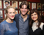 Katie Finneran, Alex Timbers and Carla Gugino attends the Todd Haimes' Sardi's Caricature Unveiling at Sardi's  on June 7, 2017 in New York City.