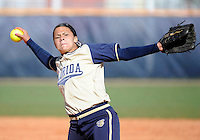Florida International University right handed pitcher Mariah Dawson (23) plays against the University of Illinois.  FIU won the game 8-0 on February 12, 2012 at Miami, Florida. .