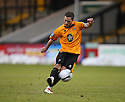 Robbie Willmott of Cambridge United takes a free-kick which hits the bar during the Blue Square Bet Premier match between Cambridge United and Histon at the Abbey Stadium, Cambridge on 1st January, 2011.© Kevin Coleman 2011